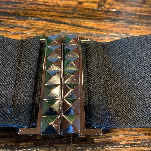 Accessories - Set of two black elastic belts Stretchy